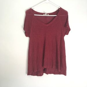 Woven Burgundy Shirt